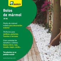 (ES) Piedra rodada de mármol para el jardín: decoración y ahorro en mantenimiento