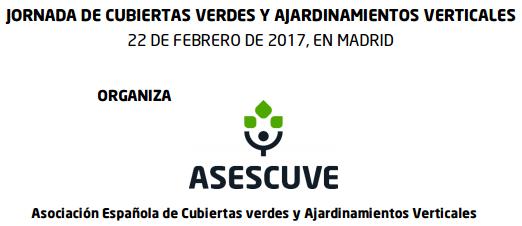 banner para la Jornada de Cubiertas Vegetales dia 22 de febrero en Madrid